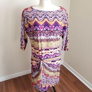 BCBG MaxAzria/ Faux Front Side Twist Dress/Size XL